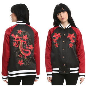Disney Mushu Red Embroidered Satin Souvenir Jacket